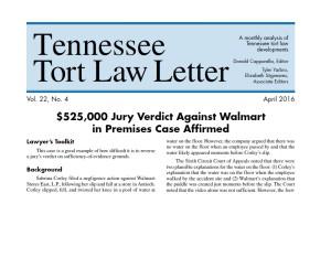 4.16 Tort Law Letter